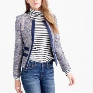 J Crew Metallic Tweed Blazer Jacket